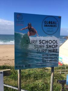 Surf School Sign