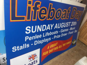 Lifeboat Day Sign