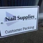 Customer Parking Cornwall Sign