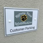 Customer Parking Sign in Cornwall