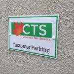 Customer Parking Signage