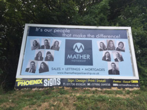 Billboard in Helston Cornwall