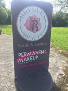 Permanent Makeup Cornwall Sign