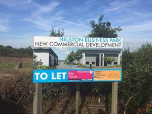 Helston Business Park Sign