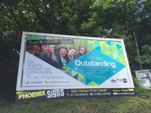 Truro Penwith College Billboard