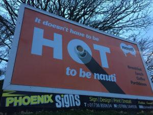 Nauti but Ice Billboard in Helston