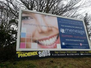 Meneage Dental Helston Billboard