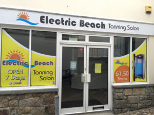 Electric Beach Tanning Salon Shop Signage