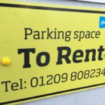Parking Space to Rent Cornwall Sign