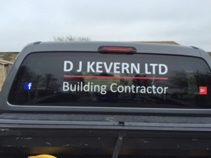 D J Kevern Ltd Vehicle Graphic
