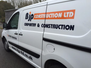 Bjp Construction Ltd Vehicle Graphic