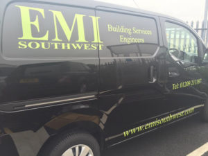Building Services Vehicle Graphic
