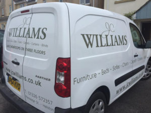 JC Williams Helston Vehicle Graphic