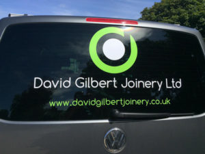 David Gilbert Joinery Ltd Vehicle Graphic
