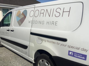 Cornish Wedding Hire Vehicle Graphic