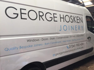 George Hosken Joinery Cornwall Vehicle Graphic