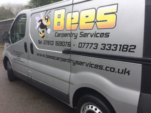 Bees Carpentry Services Vehicle Graphic