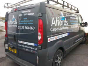 Alfords Carpets & Flooring Helston Vehicle Graphic