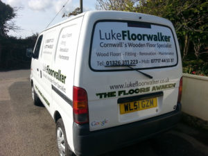 Luke FloorWalker Cornwall Vehicle Graphic